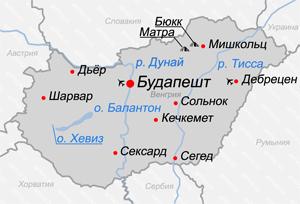 Посмотреть карту венгрии