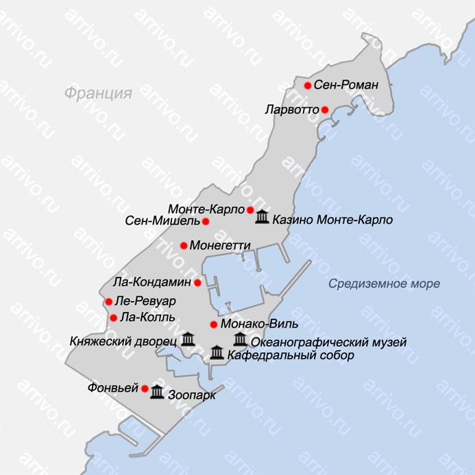 Karta Monako